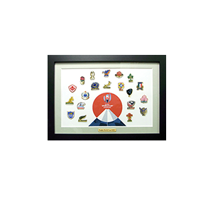 20 COUNTRIES PIN BADGE FRAME